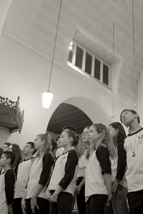 Spring concert SJMA choir singing
