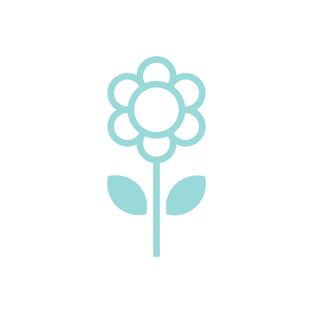 an icon of a blue flower
